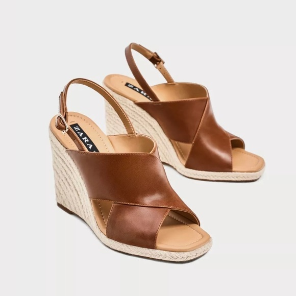 7232d341b0d ZARA Women s Jute Wedges With Crossover Straps